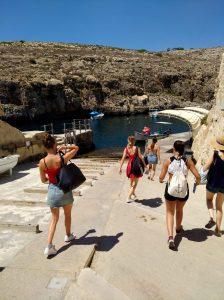 Blaue Grotte Fußmarsch